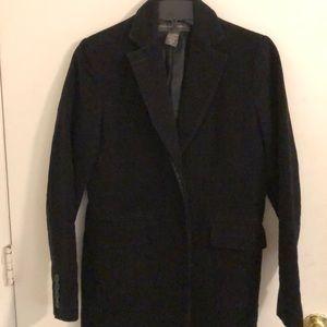 Black Knee Length Pea Coat